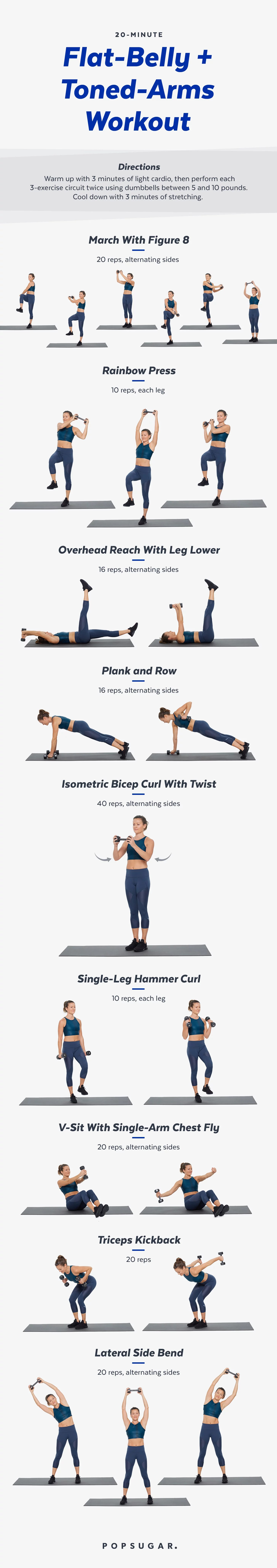20 Minute Arms And Abs Workout With Weights