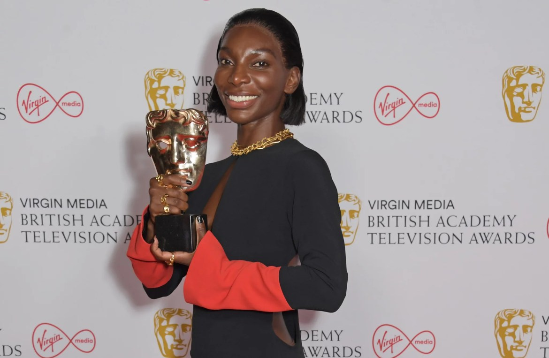 LONDON, ENGLAND - JUNE 06:   Michaela Coel, winner of the Best Actress award for