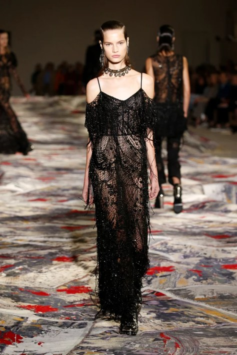 The collection was shown at Paris Fashion Week on Oct. 3.