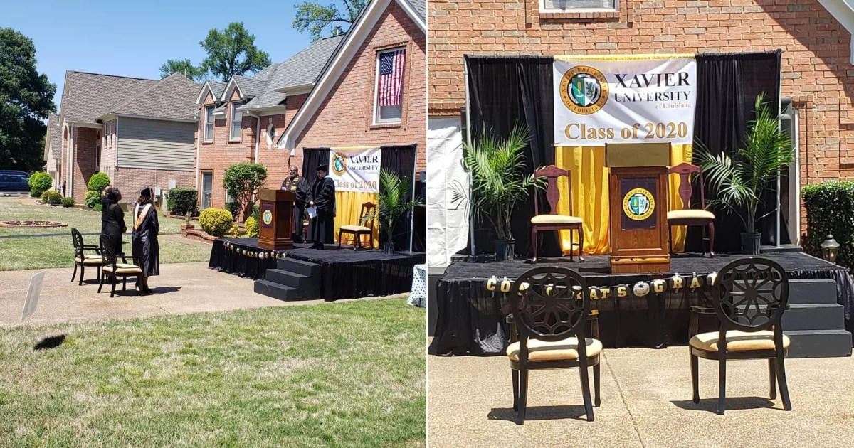 This Dad Created a Full-On Stage in His Driveway to Celebrate His Daughter's College Graduation