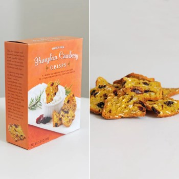 Image result for trader joe's pumpkin cranberry crisps