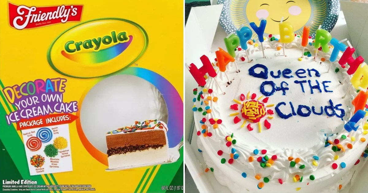 Target Has a Decorate-It-Yourself Crayola Ice Cream Cake Kit With Rainbow Sprinkles
