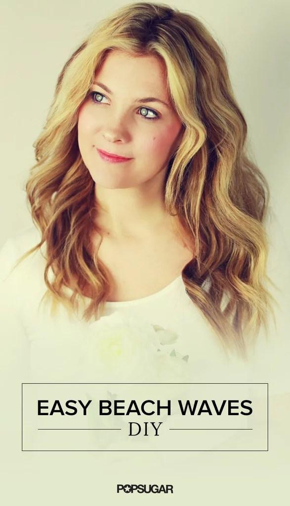 Easy Wedding Beach Waves Hair Tutorial POPSUGAR Beauty