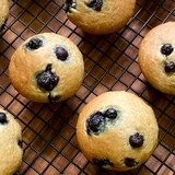 Refined-Sugar-Free, Oil-Free, Vegan Blueberry Muffins