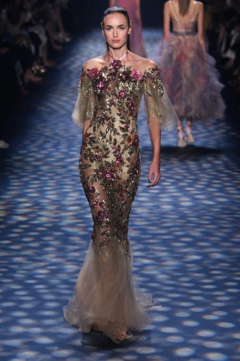 A model walked down the runway wearing the dress on Sept. 14, 2016 at NYFW.