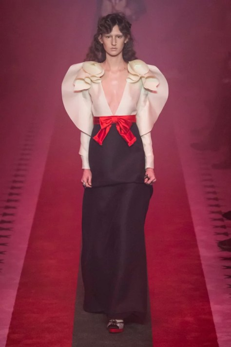 The Gucci Spring 2017 collection debuted on Sept. 21 at Milan Fashion Week. This particular dress reminds us of one very familiar cartoon character: Sailor Moon.
