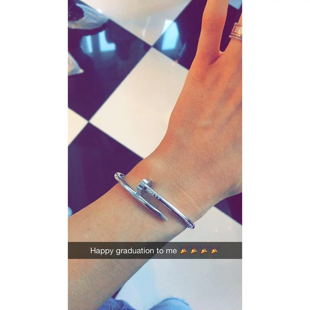 Kylie Couldnt Help But Show Off Her Gifts On Snapchat