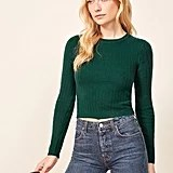 Reformation Cropped Cashmere Crew