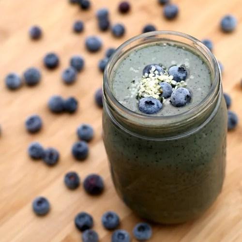 Banana Blueberry Hemp Seed Smoothie
