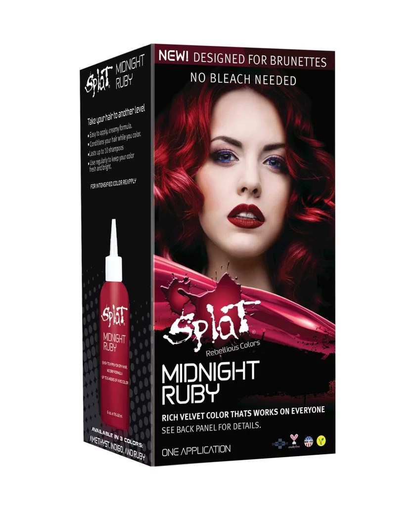 Splat Midnight Hair Color In Ruby 9 Can Brunettes Dye