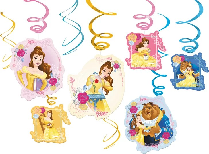 Beauty And The Beast Swirl Decorations Beauty And The