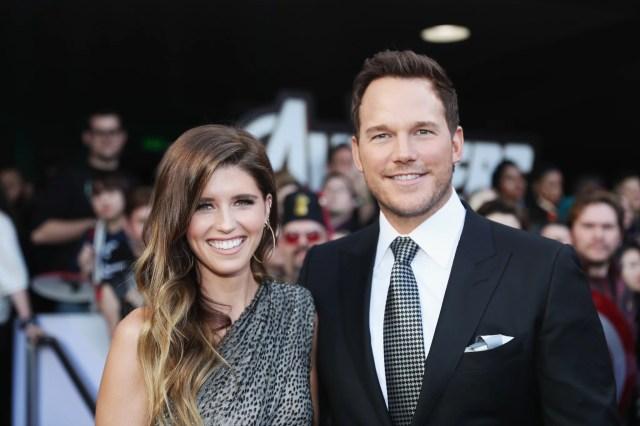 LOS ANGELES, CA - APRIL 22:  (L-R) Katherine Schwarzenegger and Chris Pratt attend the Los Angeles World Premiere of Marvel Studios'