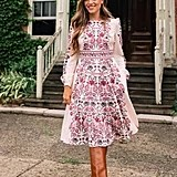 Gal Meets Glam Collection Chloe Floral Border Print A-Line Dress