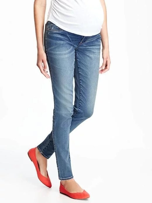 Old Navy Maternity Full-Panel Skinny Rockstar Jeans