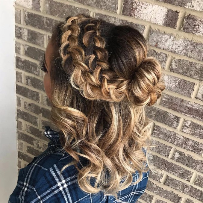 midlength party hairstyles   popsugar beauty