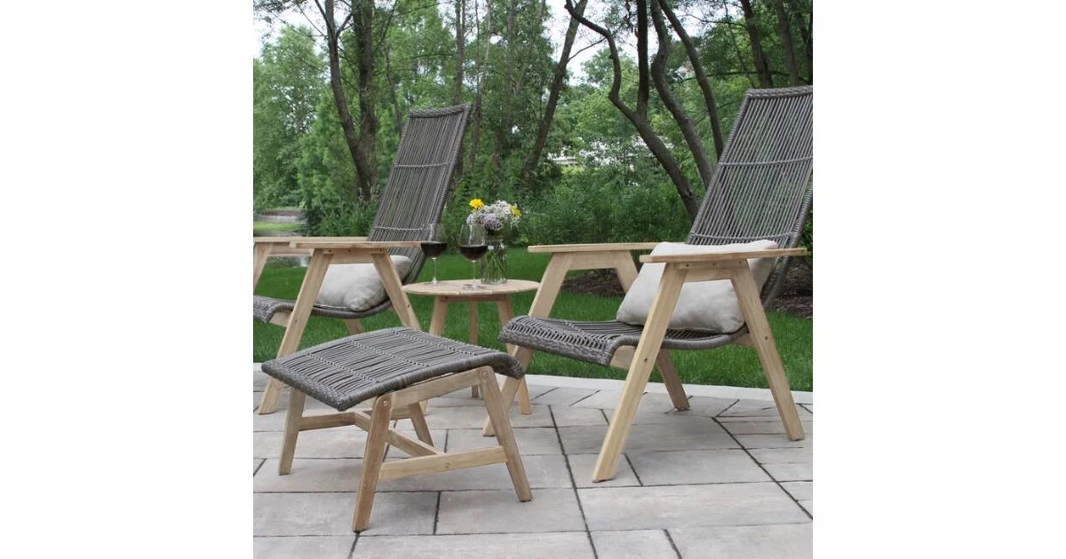 Teak Wood And All Weather Hakui Outdoor Seating Collection