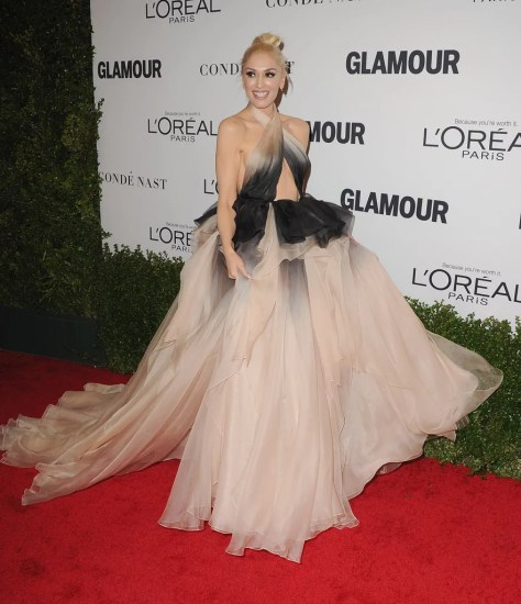 Gwen Stefani Wearing Marchesa