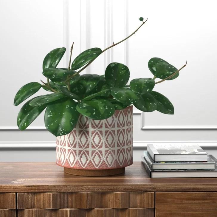 Rivet Modern Geometric Ceramic Indoor Planter Flower Pot ...