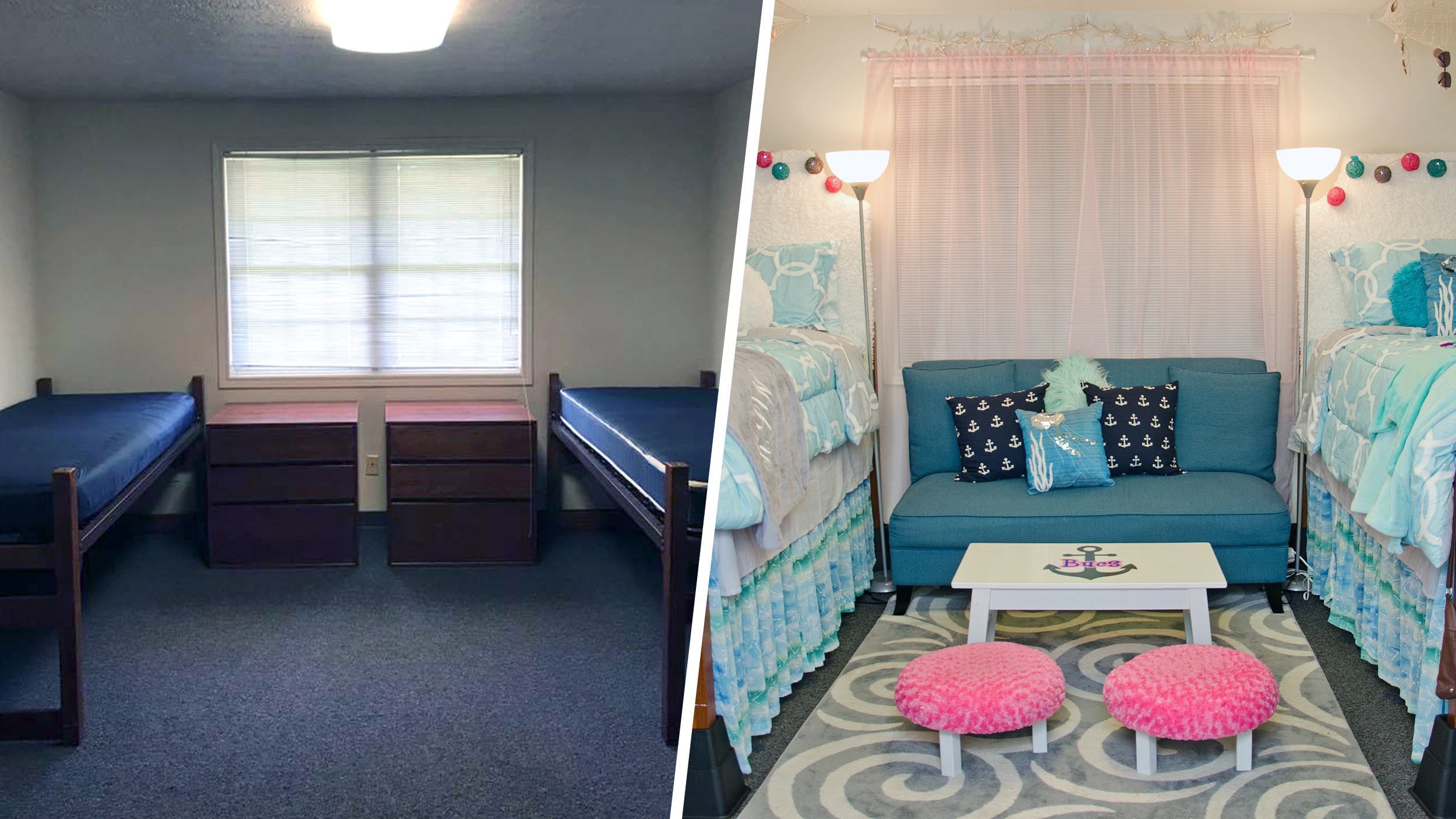 See how 2 moms transformed their daughters' dorm on a ... on Sierra College Dorms  id=50236