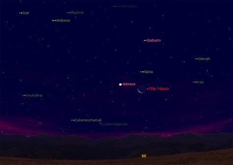 Venus moon and bright star to dazzle Thursday