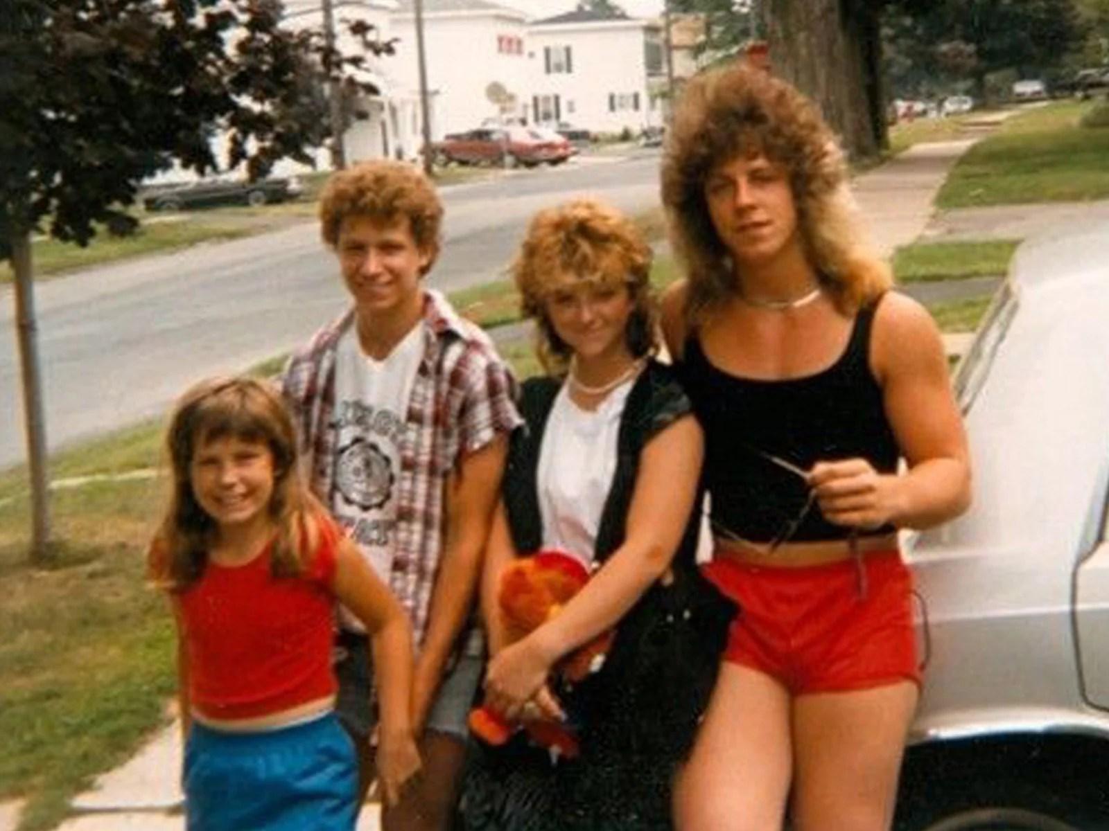 Awkward 80s Big Hair And Wild Style