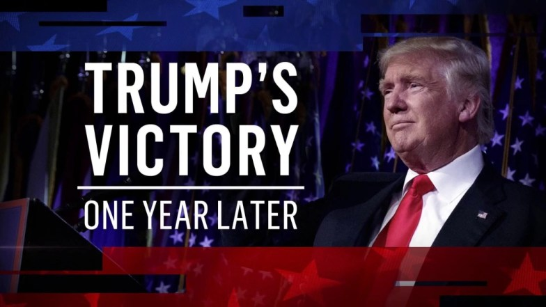 Image result for Trump, one year later