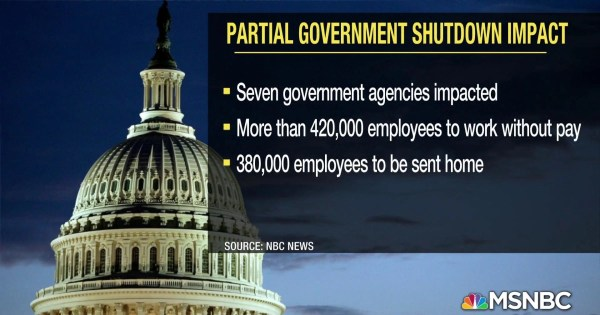 Government shutdown continues through the Christmas holiday
