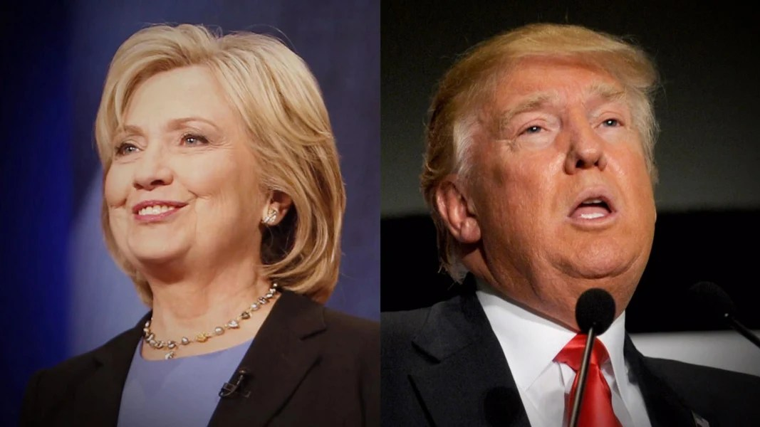 Image result for donald trump hillary clinton pictures