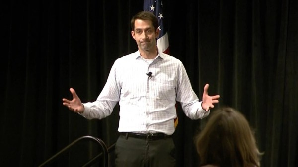 Senator Cotton Defends Trump Not Releasing Taxes at Rowdy ...