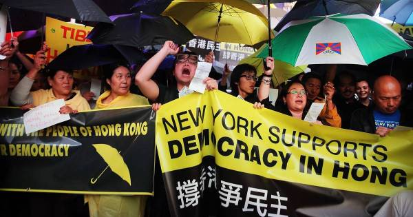 New York, Boston Show Support for Hong Kong