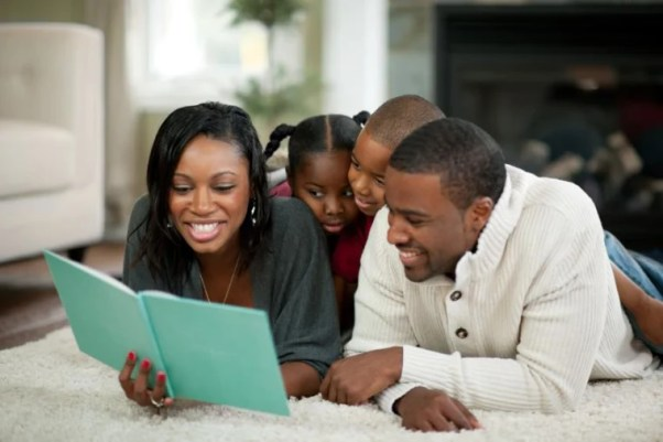 Image result for Black parents with their kids