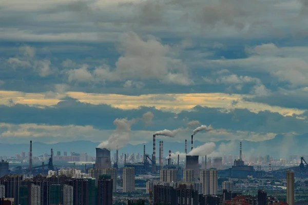 Image: A steel plant in Wuhan, China