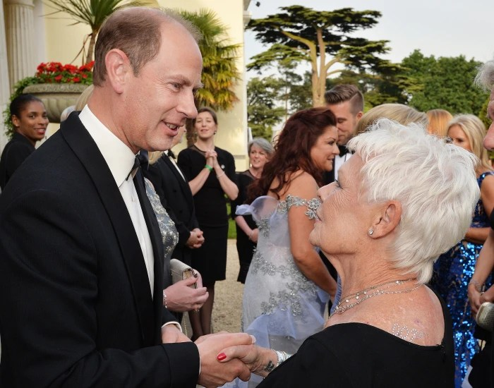 The Earl of Wessex (left) talks with Dame Judi Dench