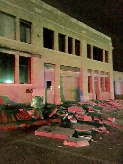 Image: Earthquake damage in Cushing, Oklahoma