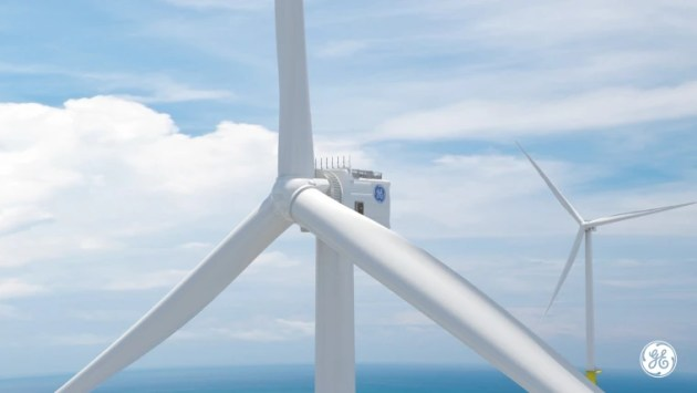 World s tallest offshore wind turbine will tower over iconic buildings Image  General Electric
