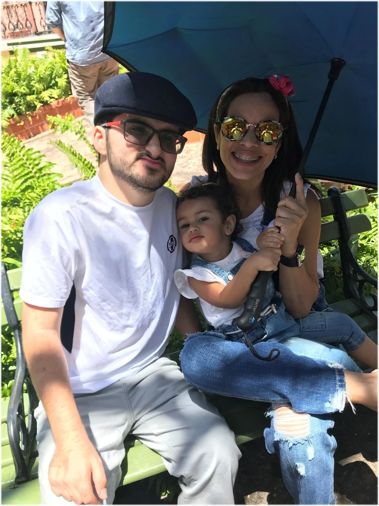 Luis with his mom Monica Quesada and sister Luna, in Puerto Rico.
