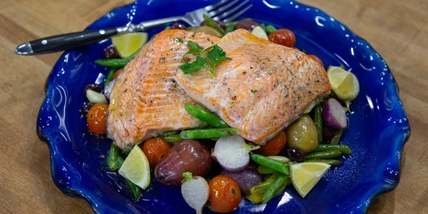 Brown-Bag Arctic Char with Potatoes, Olives and Herbs