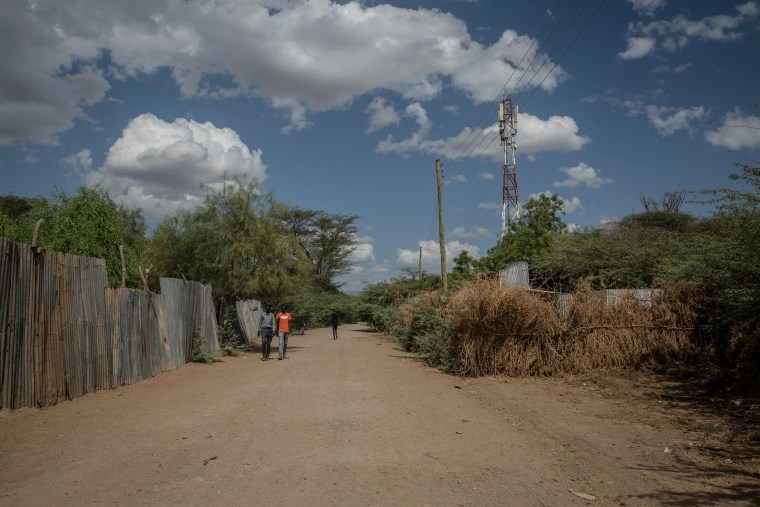 Image: The street in the Kakuma camp in which Salahuddin Waqo Halaki, a 33-year-old Ethiopian refugee, was reportedly shot multiple times by police in April 2017.