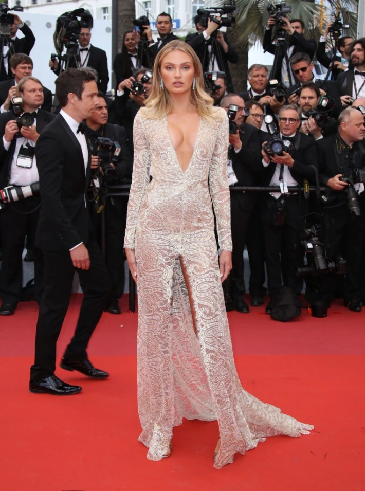Romee Strijd Cannes red carpet, Cannes Film Festival 2019, Cannes Film Festival red carpet