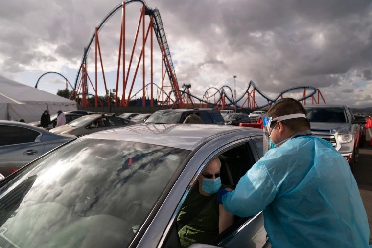 Magic Mountain COVID Vaccine Site Closes, Replaced By 2 New Sites in Palmdale, Santa Clarita
