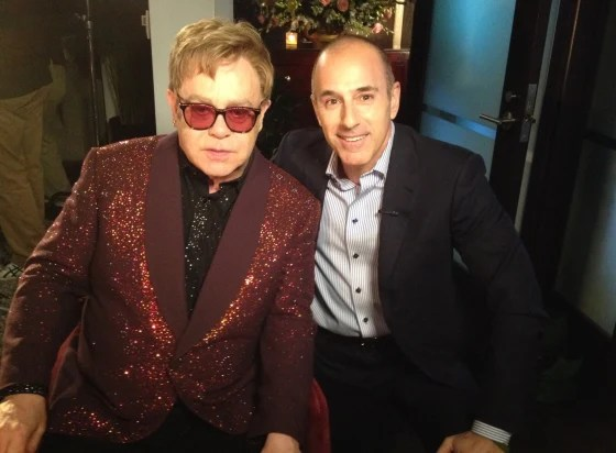 """Sir Elton John told Matt Lauer that """"the thrill of the music will never die for me."""""""