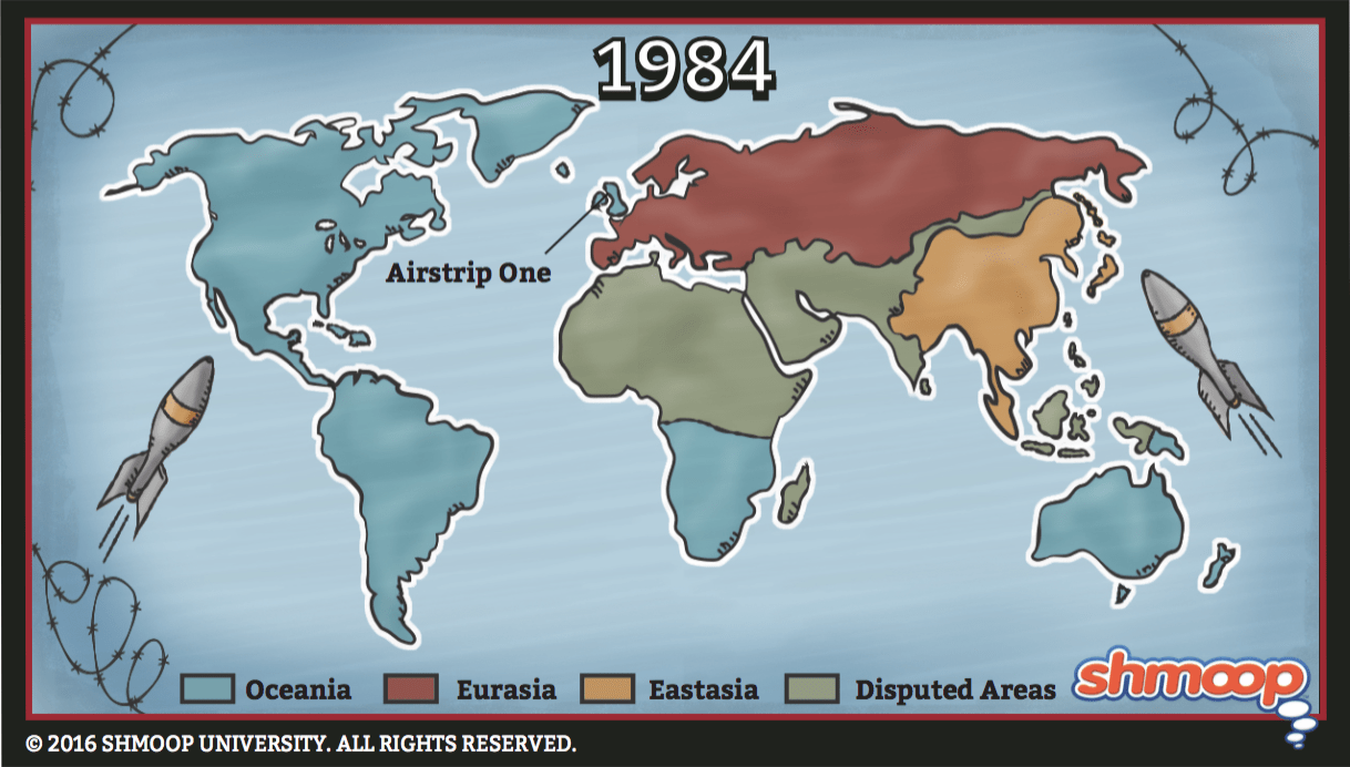 Map In 1984 Chart
