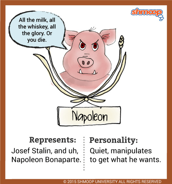 Napoleon Humans Talking Animal Farm
