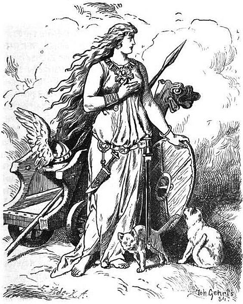 Freyja and Her Chariot