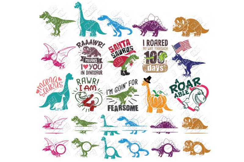 Download dinosaurs svg dxf file instant download silhouette cameo ...