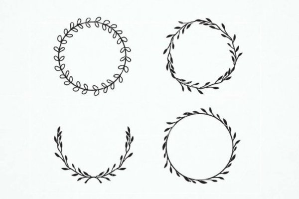 wreath template free svg # 7