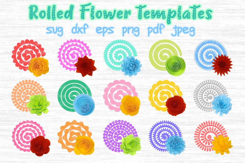 Download Rolled Flower svg, 3d flower svg, Rolled Paper Flower By ...
