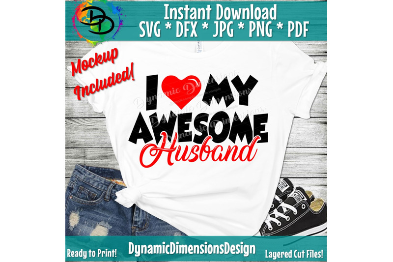 Download Awesome Husband SVG, I Love My Husband SVG, Love my Wife ...