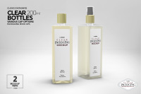 Download 200ml Glass Bottle With Pump Mockup Yellowimages