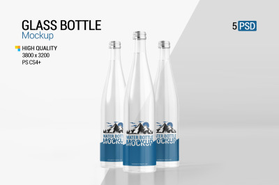 Download Blue Glass Spray Bottle Mockup Yellowimages